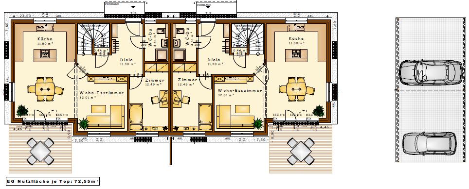 residenzen am m hlbach in biedermannsdorf doppelh user von vario haus vario haus. Black Bedroom Furniture Sets. Home Design Ideas