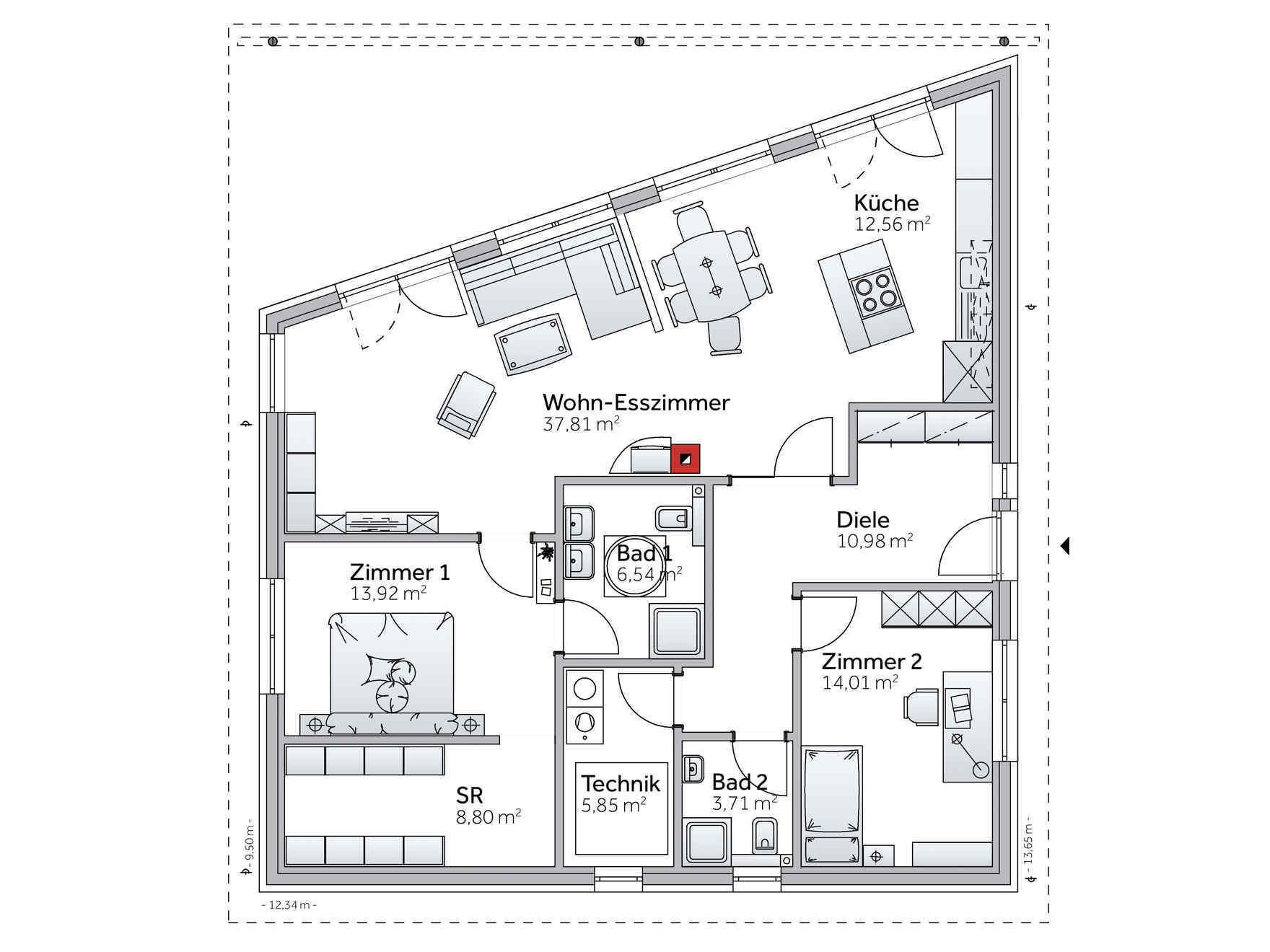 Grundriss Zeichnen Online Bungalow Mit Individuellem Bungalow Grundriss Gestalten