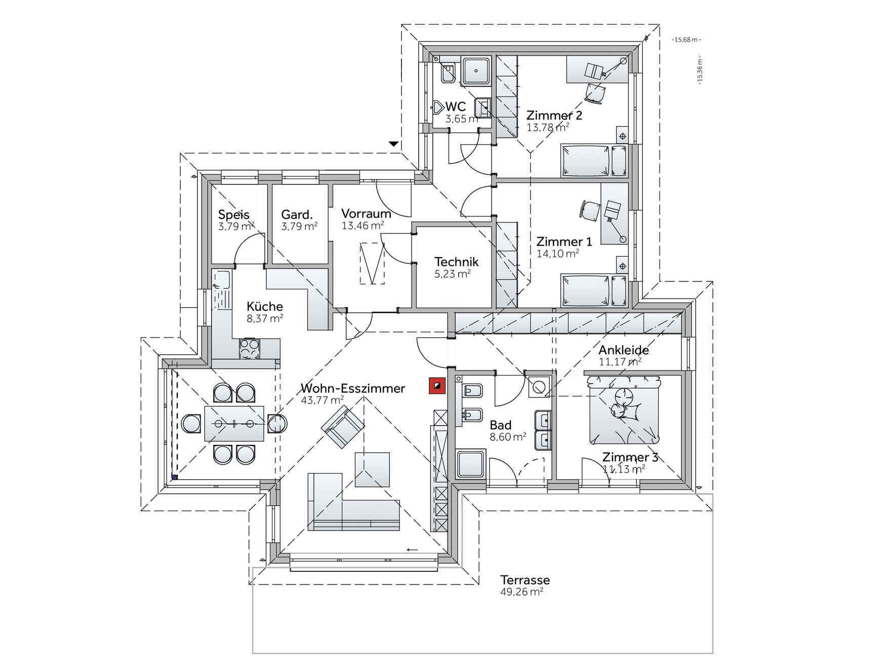Bungalow Mit Individuellem Bungalow Grundriss Gestalten Vario Haus
