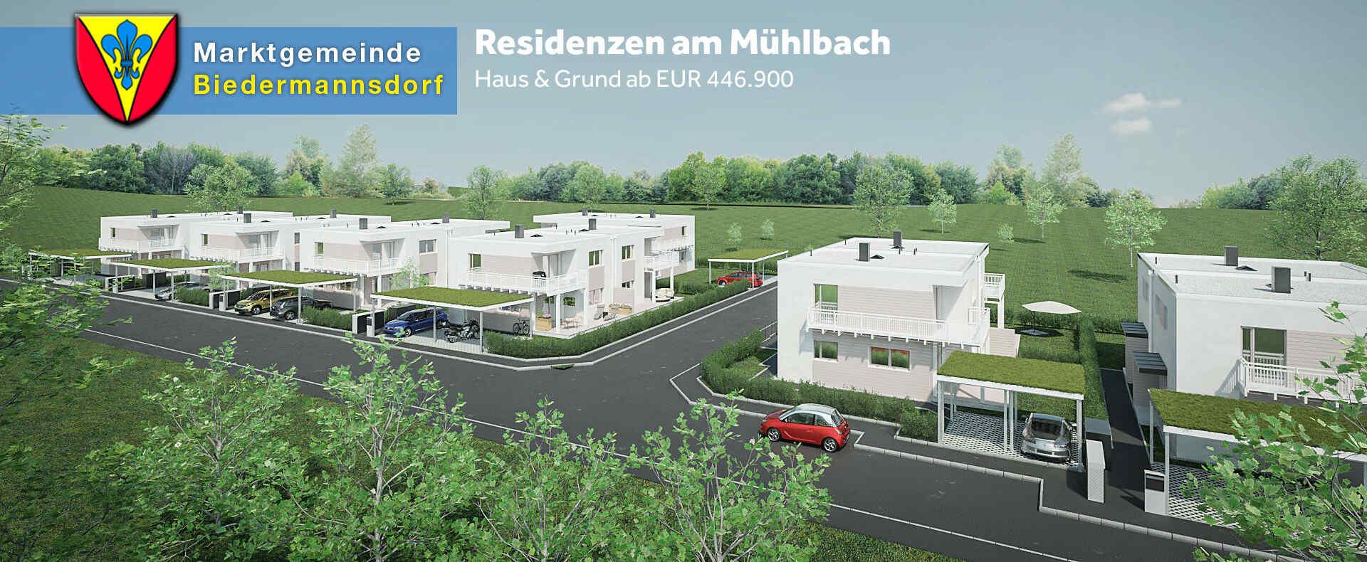 Residenzen am Mühlbach in Biedermannsdorf   Doppelhäuser von VARIO ...