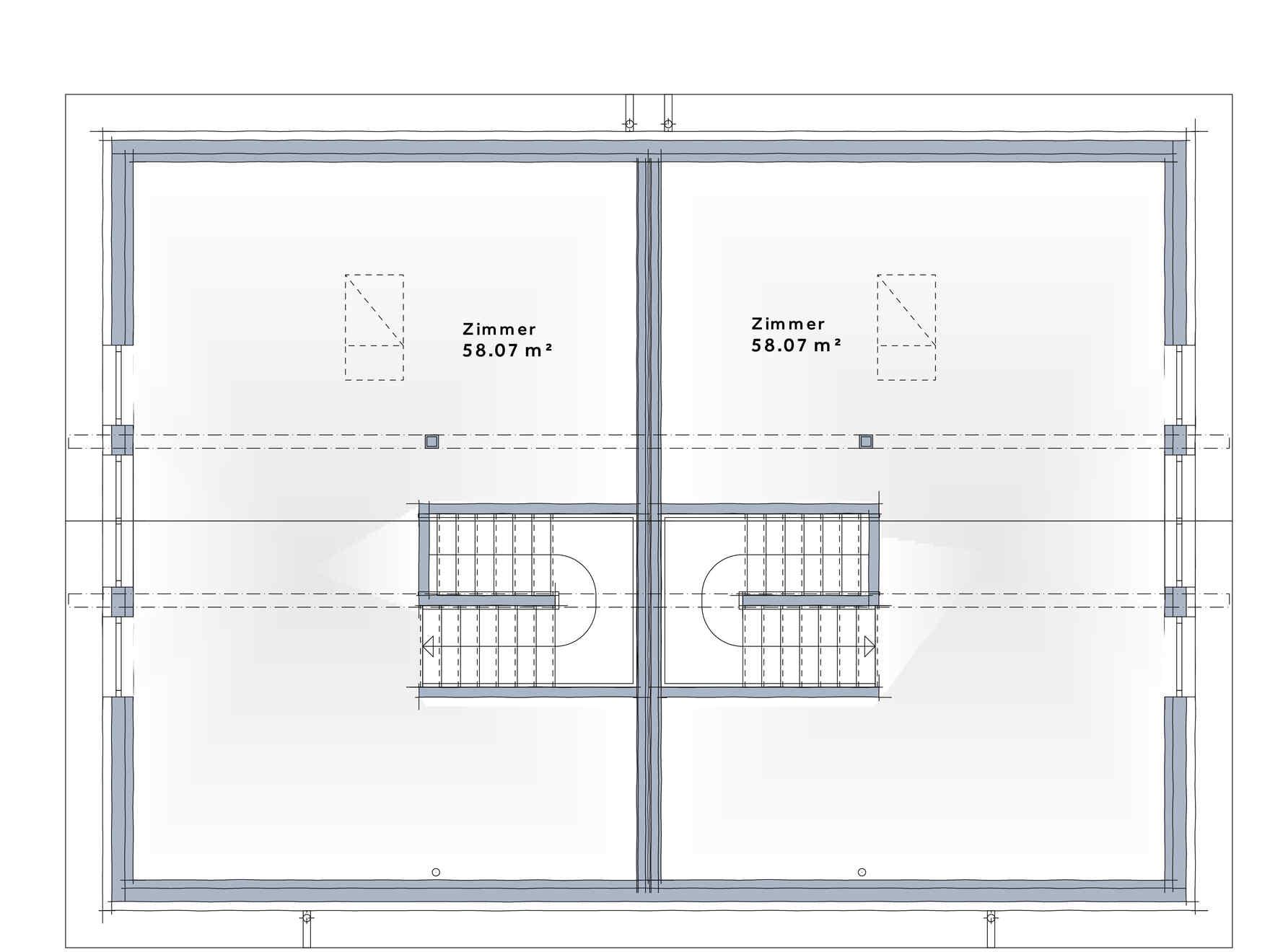 Prefabricated house Duplex D113 XL