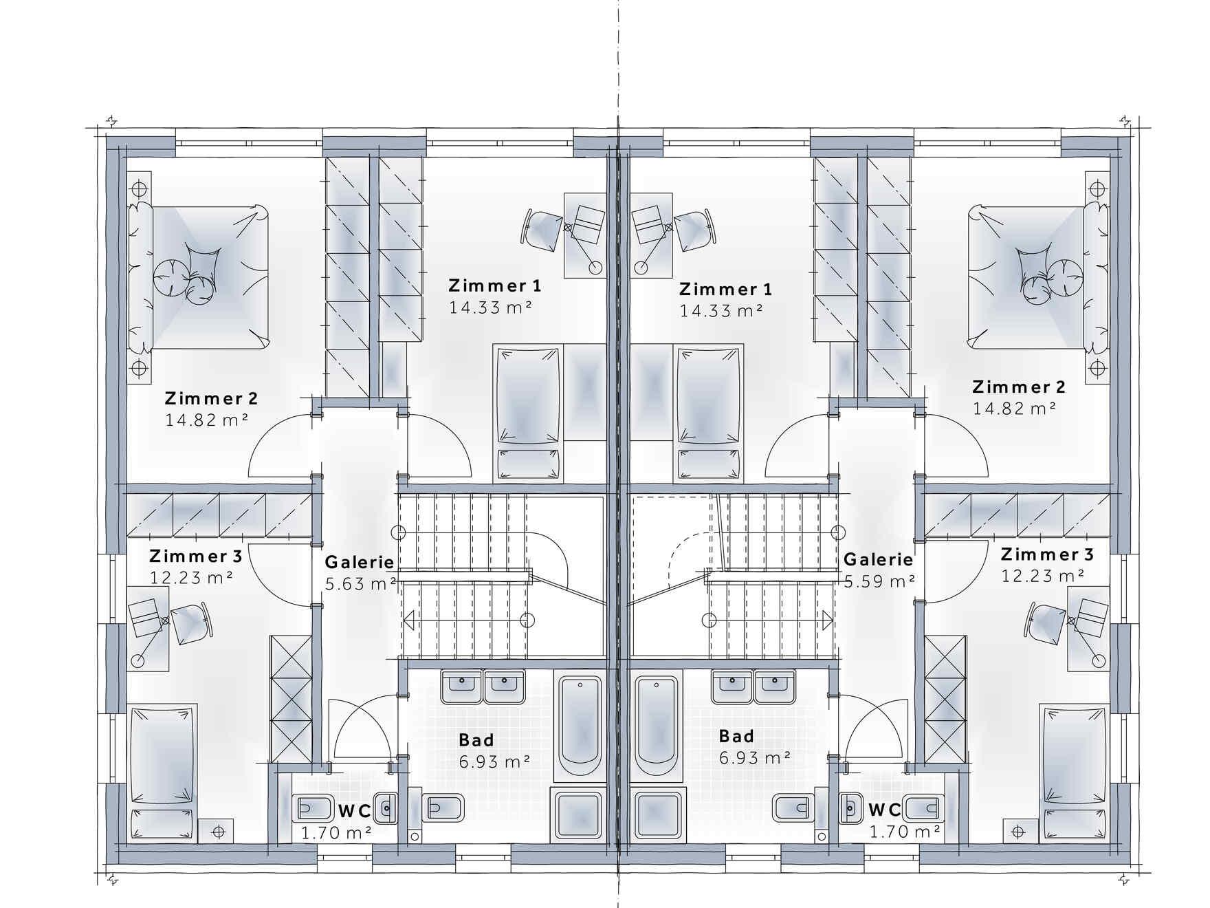 Fertighaus Duplex D113 XL