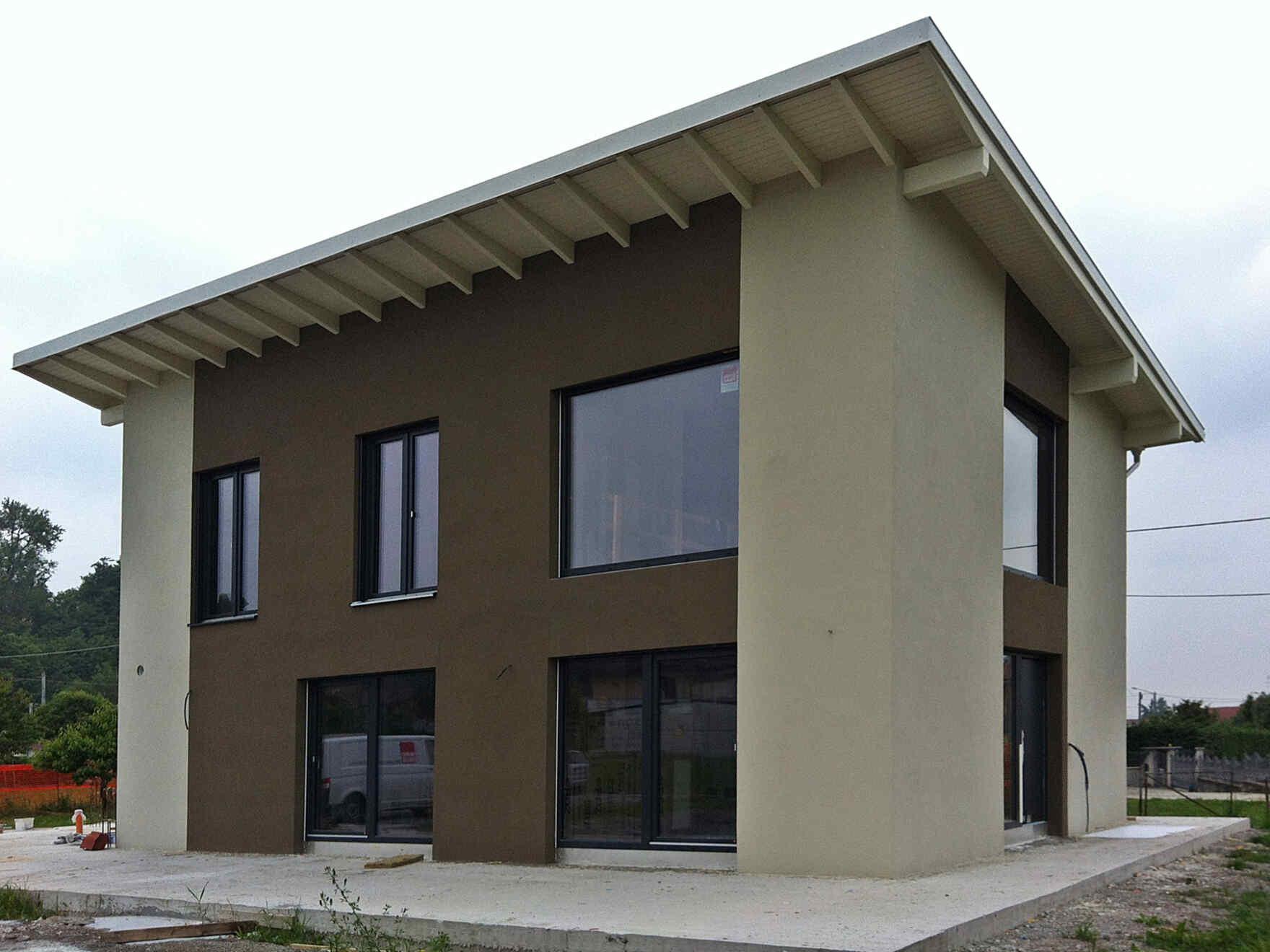 casa prefabbricata in legno famiglia Anfossi