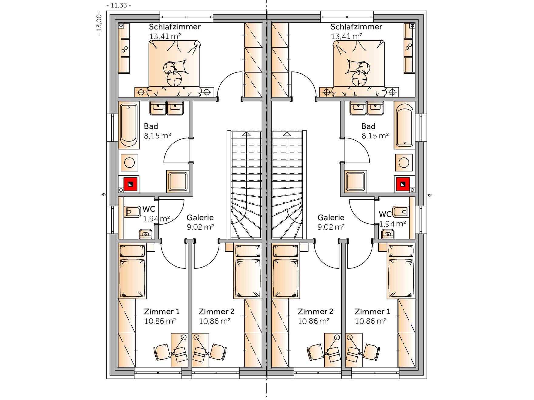 Fertighaus Duplex D110