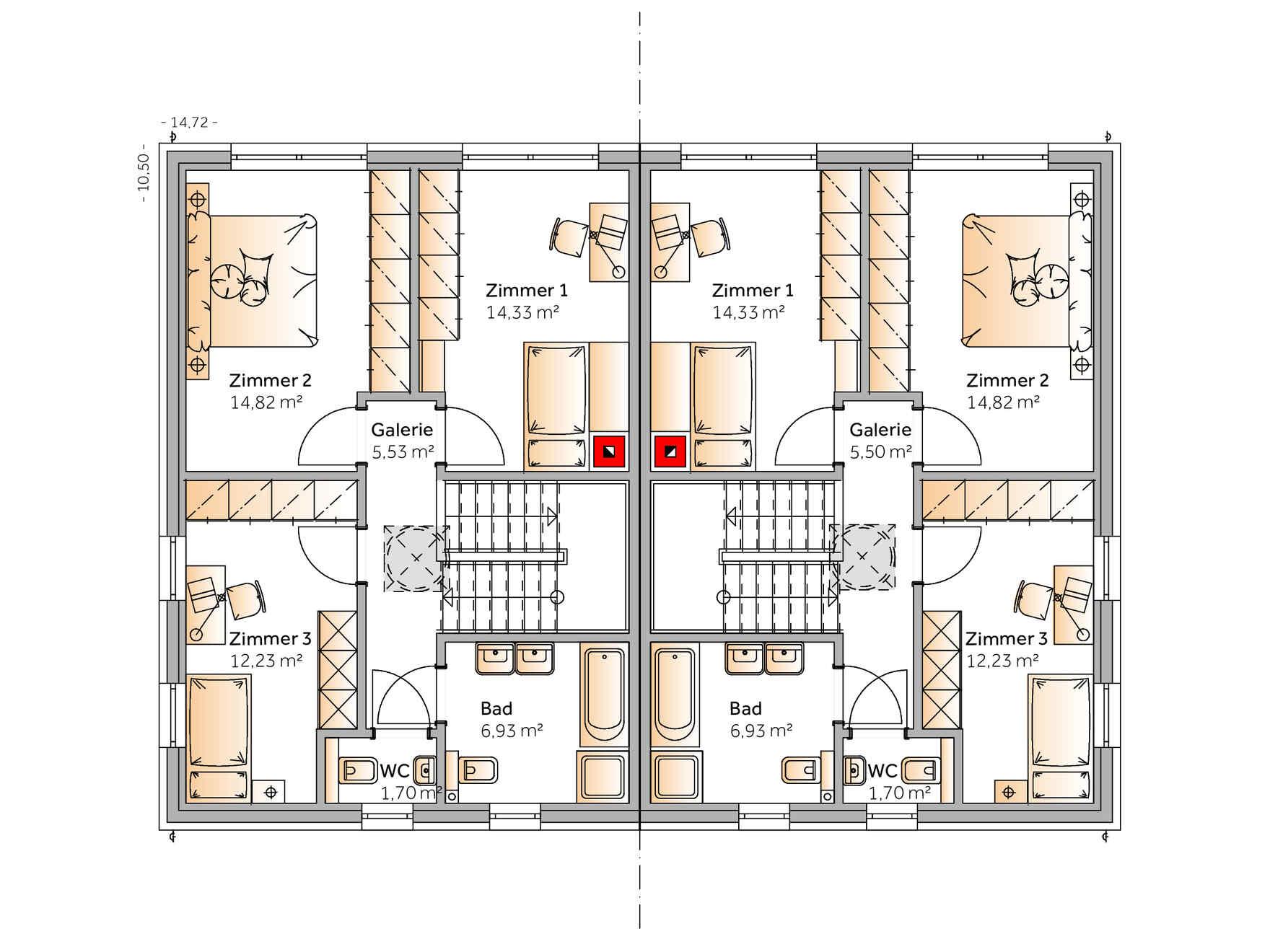 Fertighaus Duplex D113 S