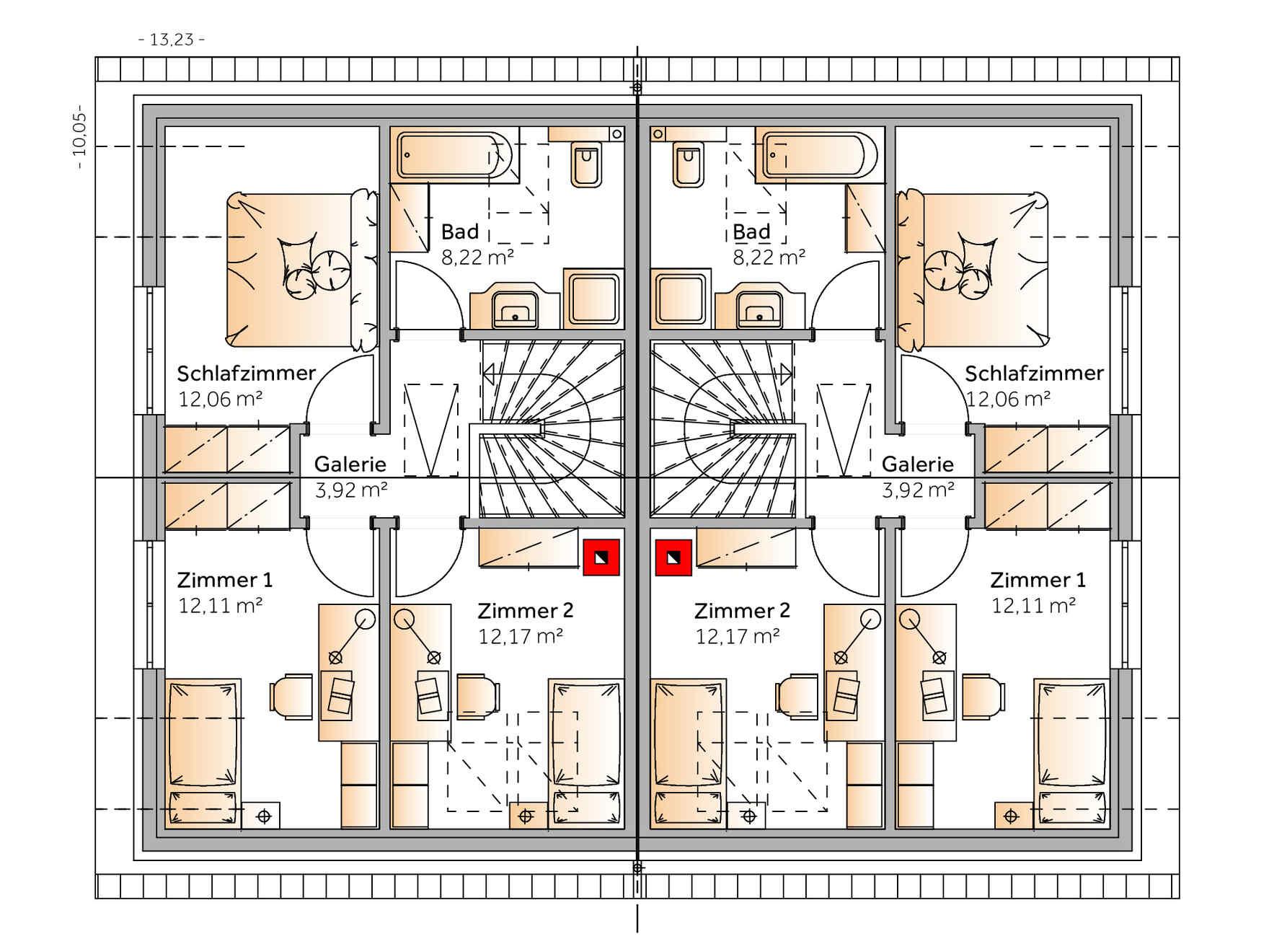 casa prefabbricata in legno Duplex D97
