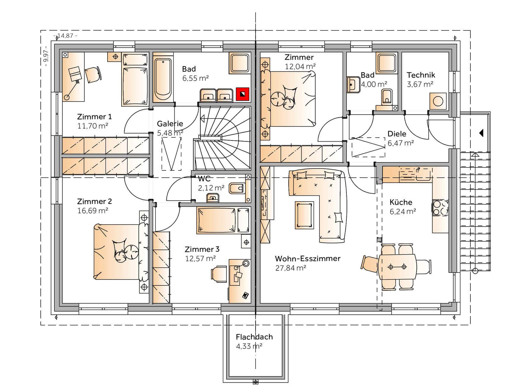 Maison préfabriquée Duplex Trio