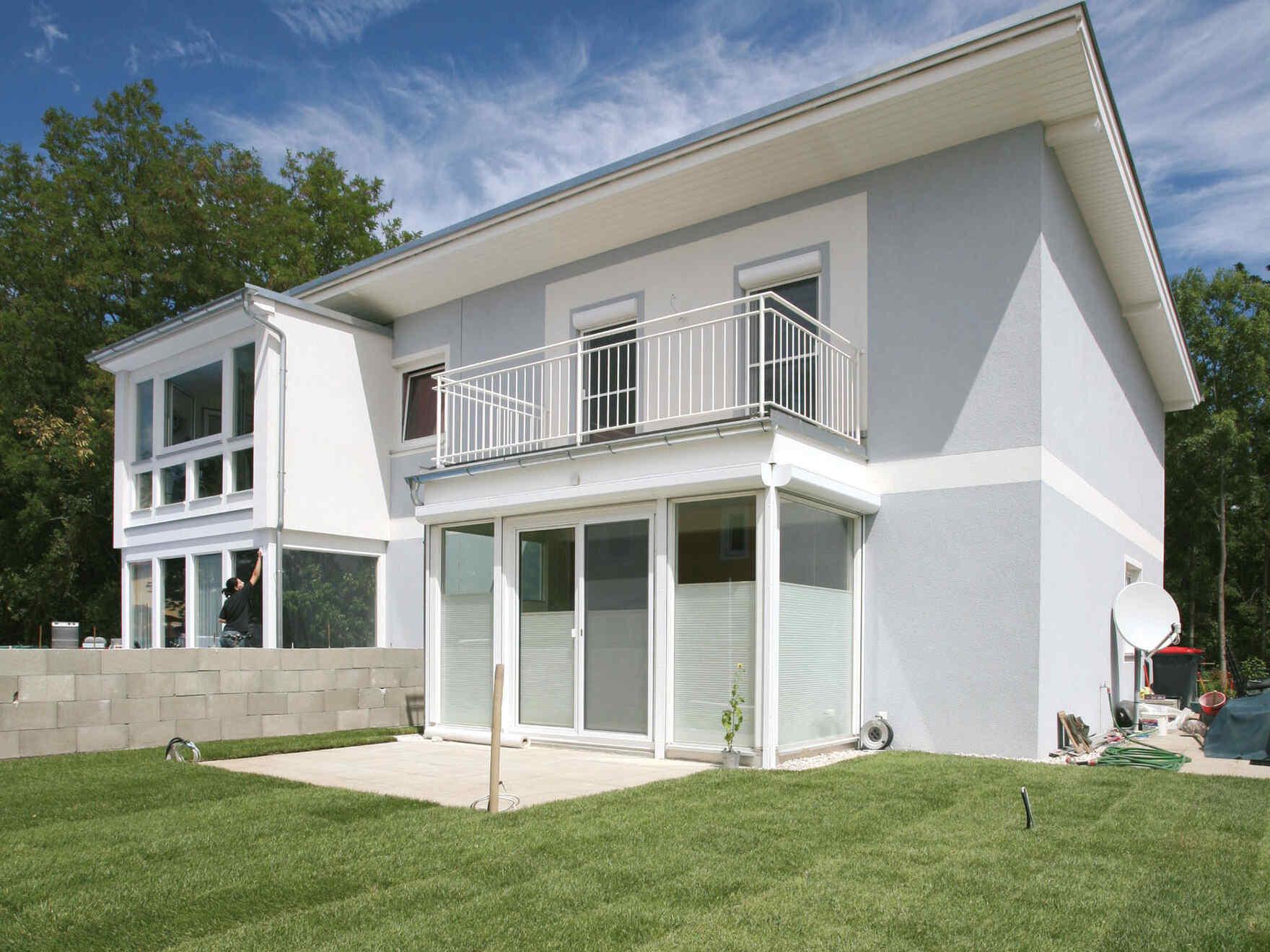 casa prefabbricata in legno Doppelhaus-Anlage Sonnendorf