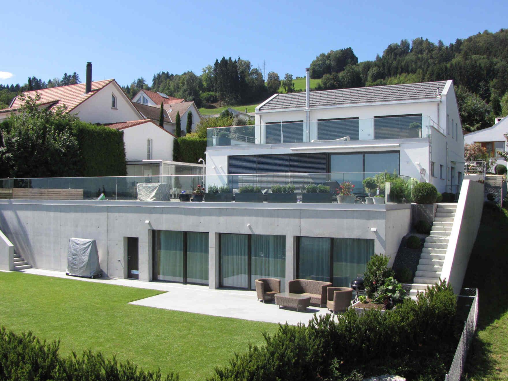 architects villa white terraces vario haus. Black Bedroom Furniture Sets. Home Design Ideas