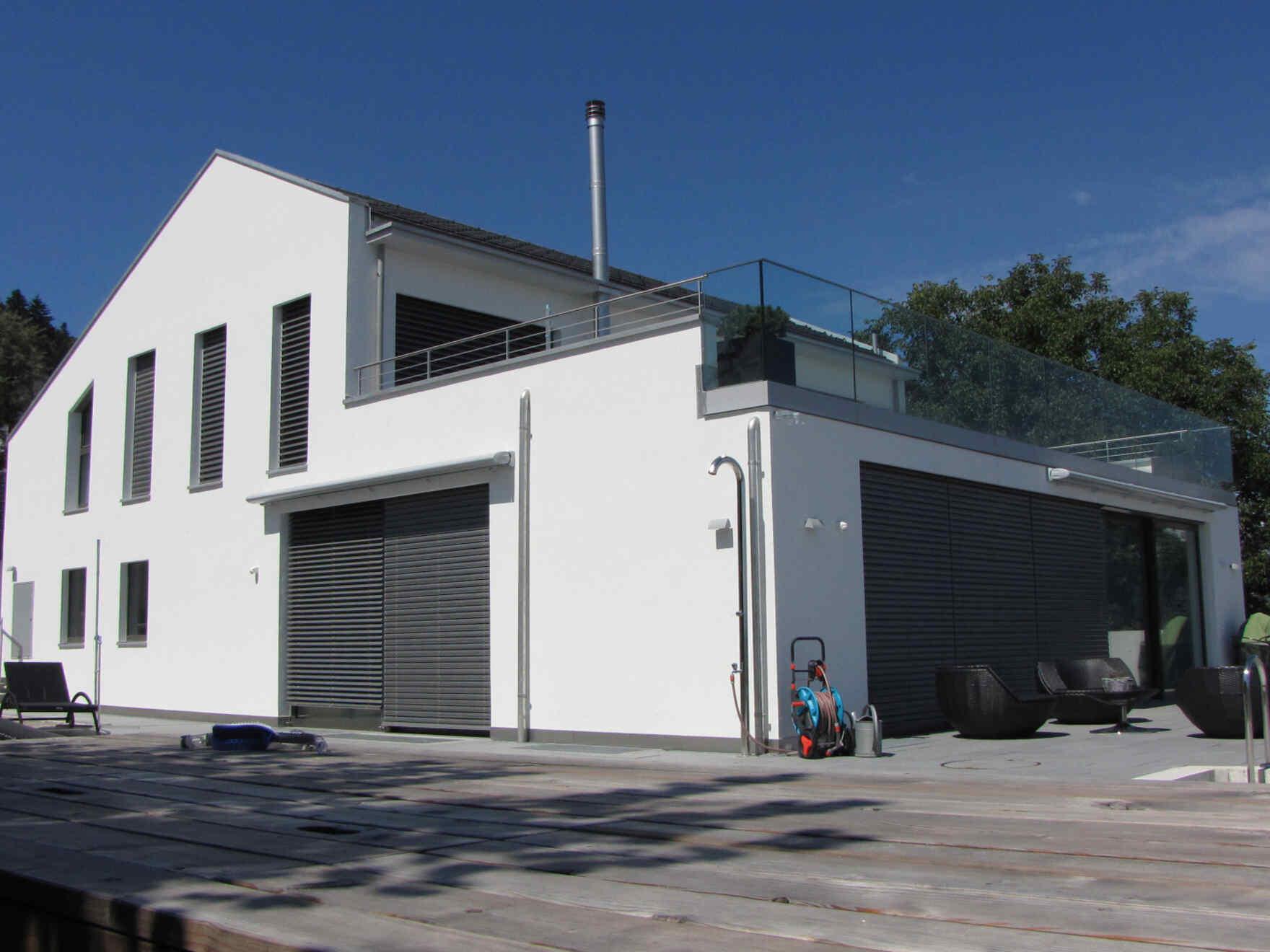 architekten fertighaus villa white terraces vario haus fertigteilh user. Black Bedroom Furniture Sets. Home Design Ideas