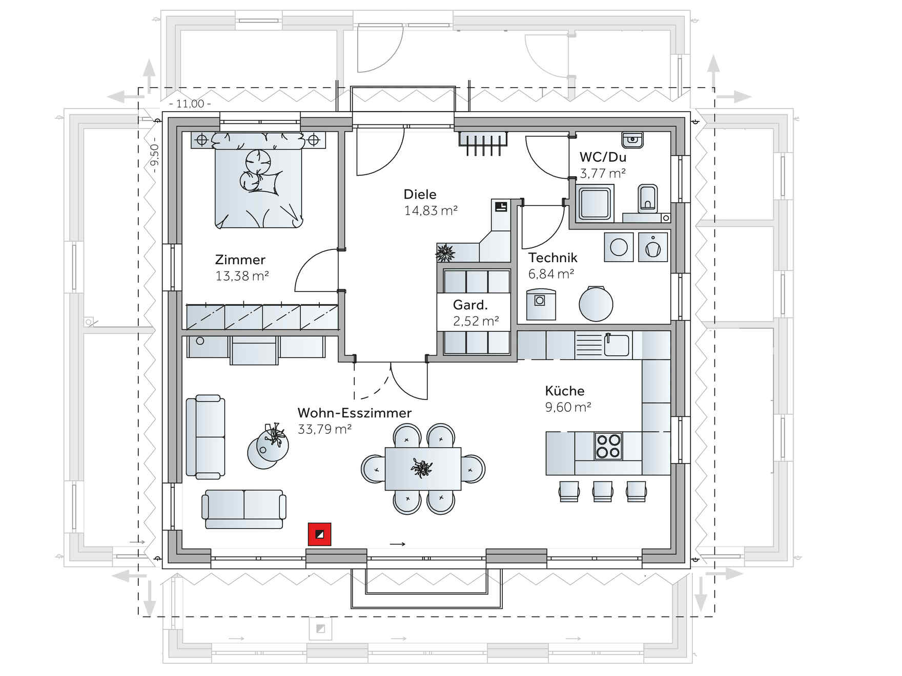 Bungalow Plan 60 M2