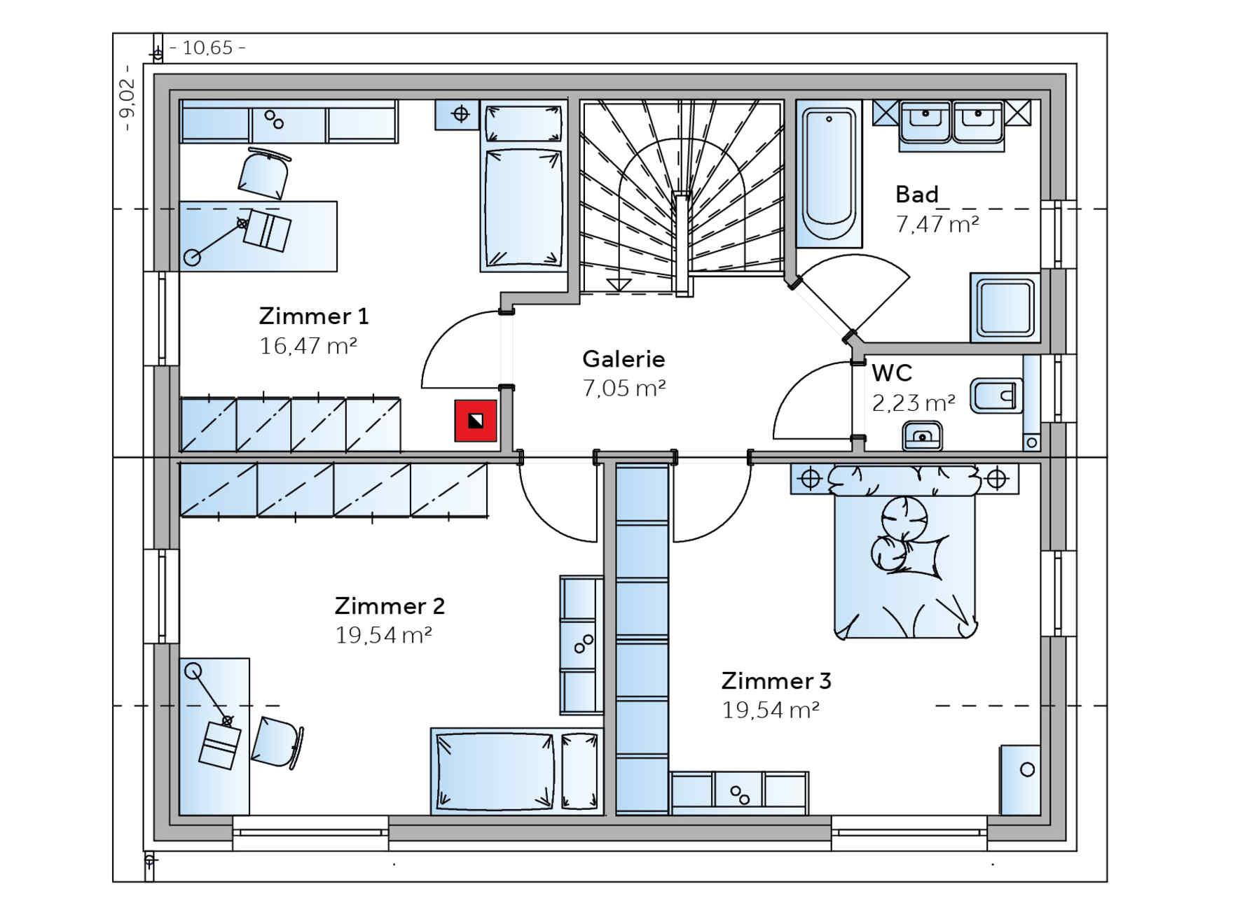 Favoloso casa prefabbricata a basso consume energetico Novum | VARIO-HAUS  QZ48