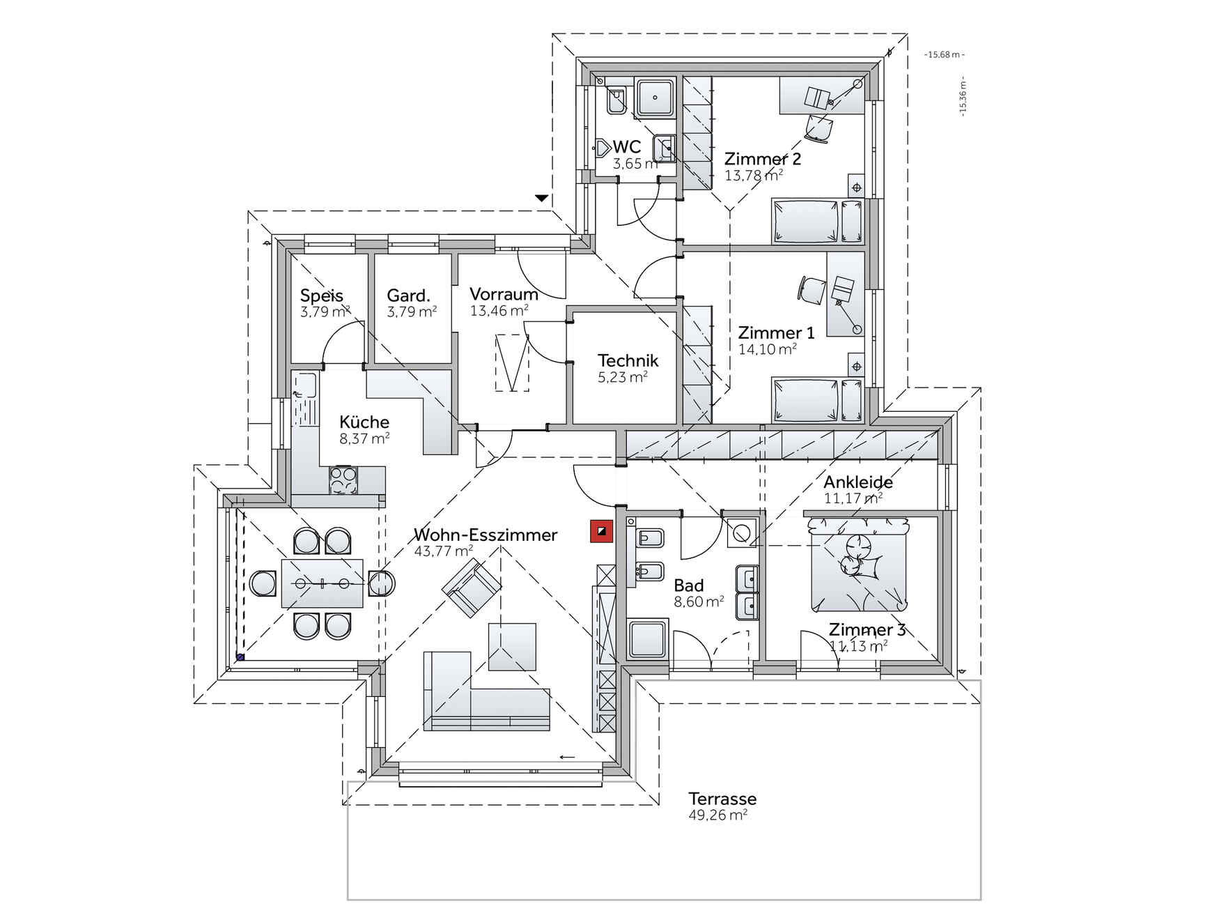 Musterhaus bungalow flachdach  Musterhaus Bungalow S141 Graz - Besichtigung, Planung & Kauf ...