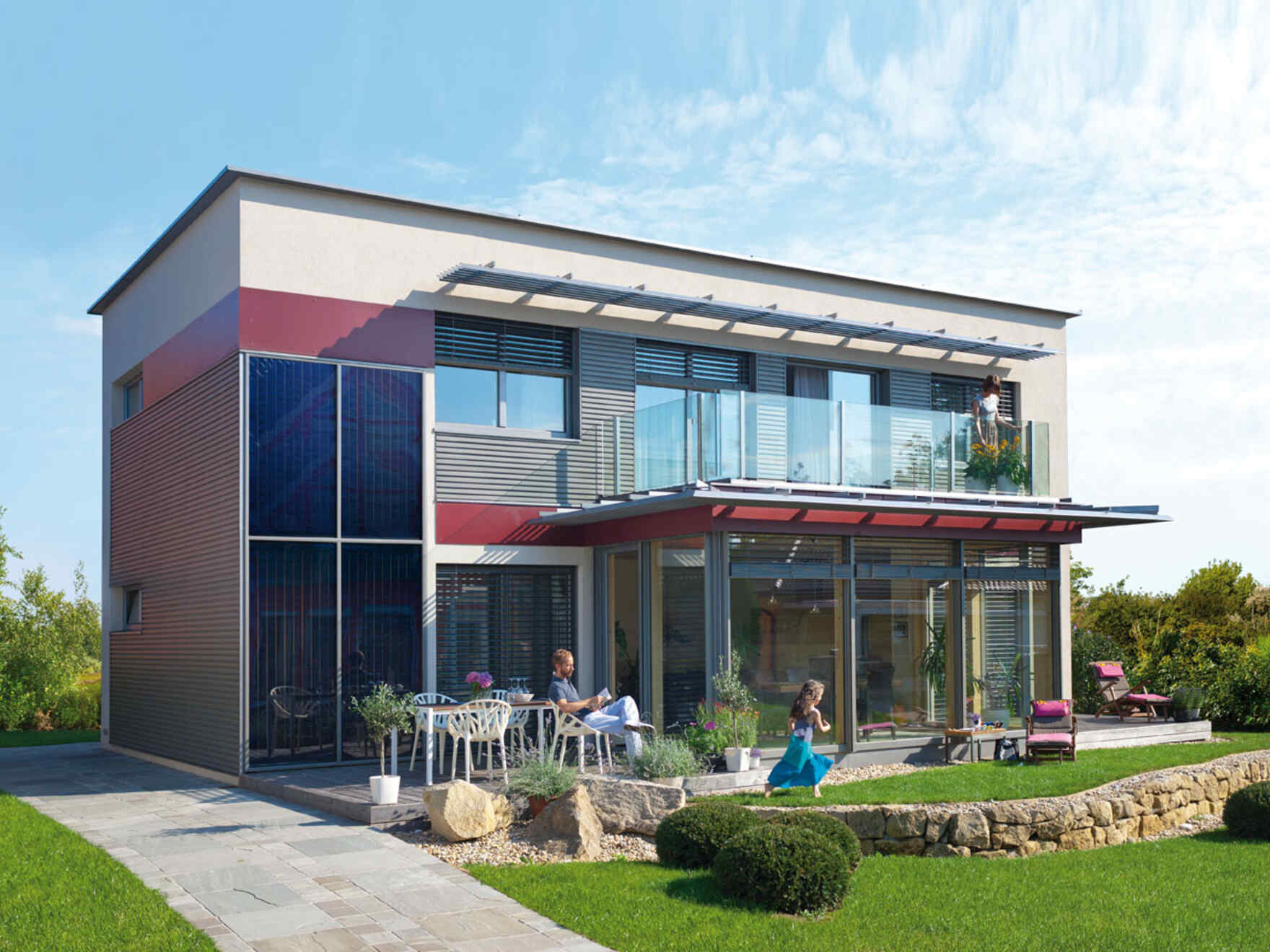 Musterhaus modern pultdach  Musterhaus Sunrise | Musterhäuser | Neues Zuhause | VARIO-HAUS ...