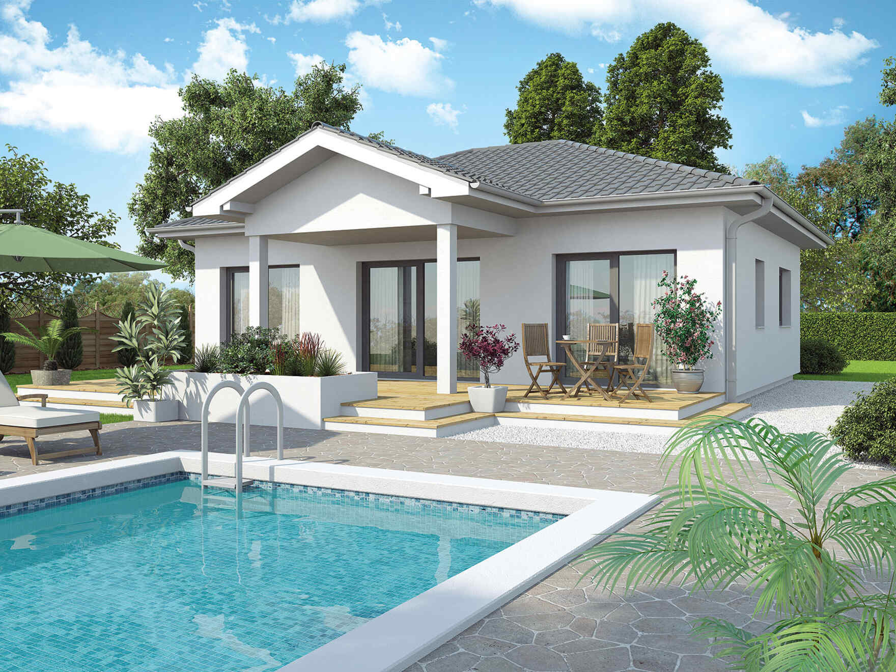 Outstanding Bungalow New Design Vs Vario Haus Prefabricated Houses Largest Home Design Picture Inspirations Pitcheantrous